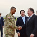 Secretary Pompeo is Greeted by Chargé d'Affaires Knapper and Commander General Brooks in Osan by U.S. Department of State