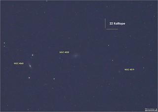 Asteroid 22 Kalliope in the Constellation Virgo | 22 Kalliop… | Flickr