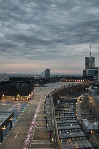 fuji london stratford x100f canal carpark cloud dawn houseboat street streetphotography sunrise urban