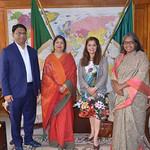 Malini w/ Speaker of Bangladesh parliament