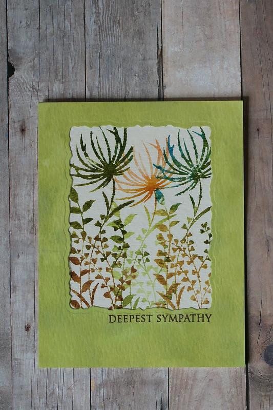 Sympathy Watercolor Flowers