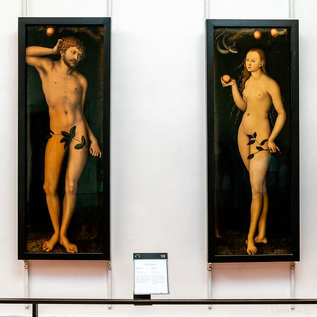 Lucas Cranach the elder: Adam and Eve, 1528