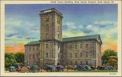 Rock Island Arsenal, IL Clock Tower Building older view | Flickr