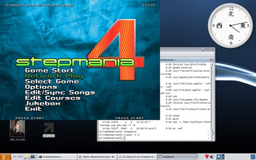 StepMania 4 on OpenSolaris   It's StepMania! With sound and