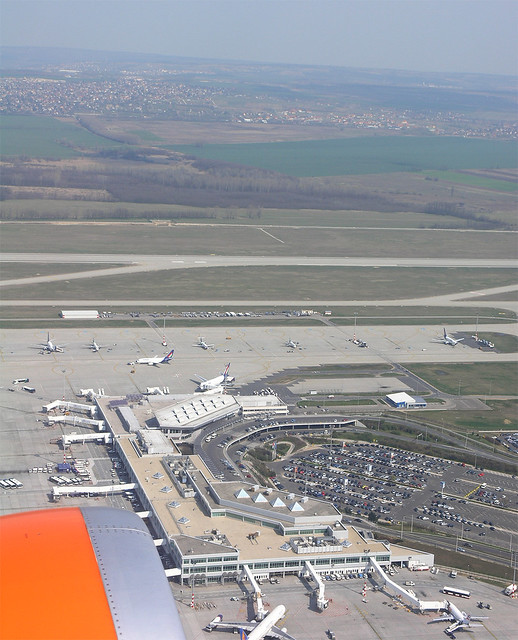 Budapest from the air: the Ferihegy 2 (now Ferenc Liszt) airport