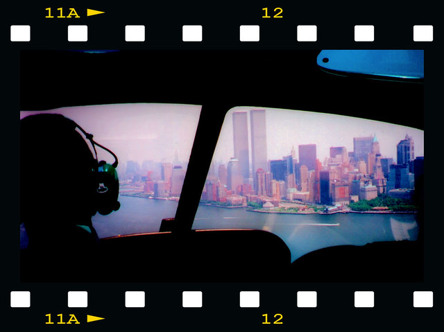 A helicopter flight over NewYork 1999