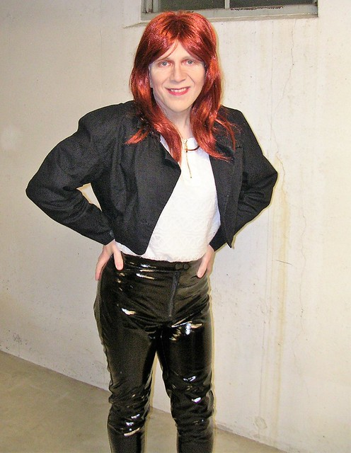 Vinyl trousers and Gitano jacket