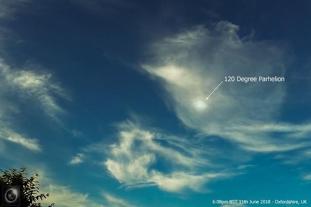 120 Degree Parhelion 6:08pm BST 11/06/18