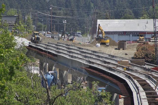 East Link viaduct in Bel-Red