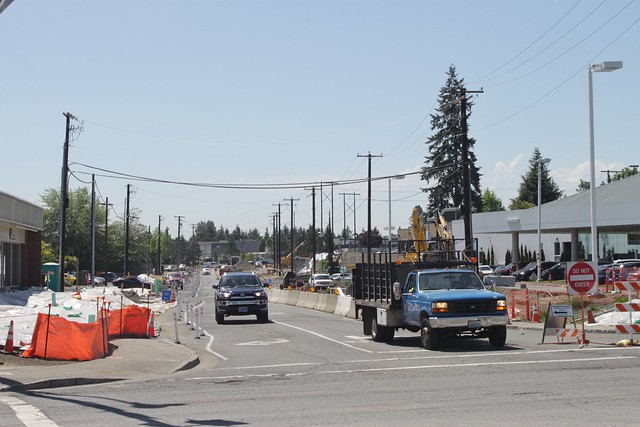 East Link construction at 136th