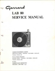 Garrard TechEng Service Manual LAB80