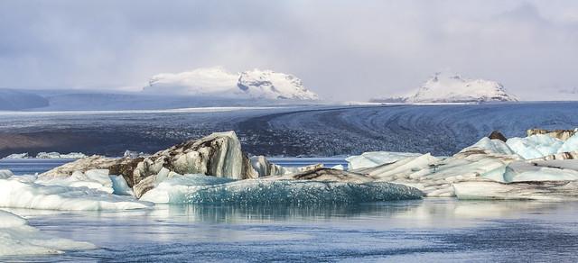Esjufjöll and the Breiðamerkurjökull Glacier