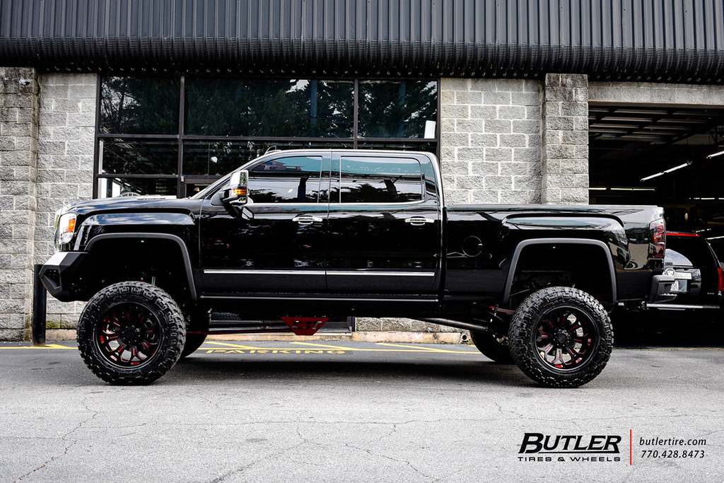 Lifted Gmc Denali 2500 With 22in Grid Off Road Gf3 Wheels Flickr