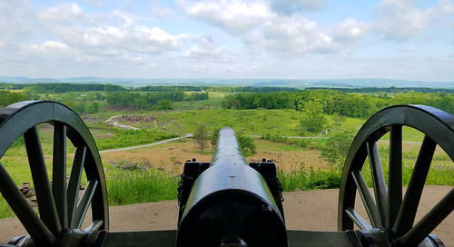 Cannon on Little Round Top, Gettysburg Pa