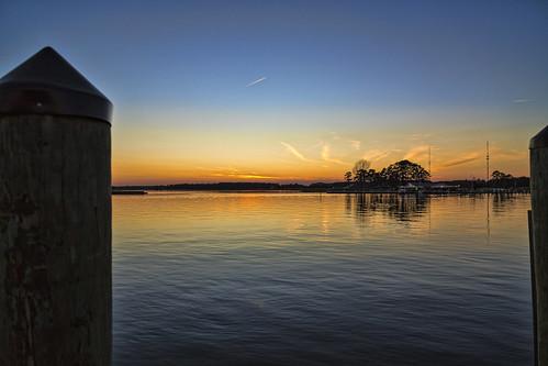 chesapeake kent narrows sunset sky topaz