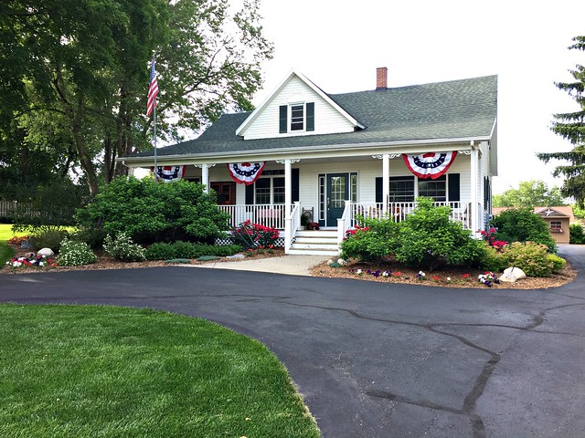 patriotic farmhouse