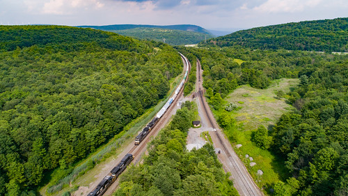 drone nspittsburghline nsi1m newportagerailroad newportagetunnel norfolksouthern theslide tunnelhill aerial aerialphotography dronephotography i1m overlook railroad trains tunnel