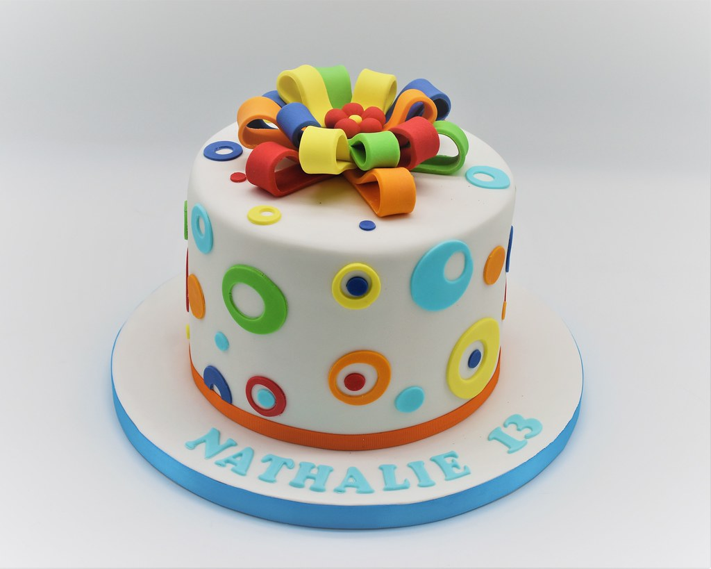 Rainbow Birthday Cake From Patricia Creative Cakes (Brussels