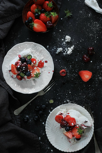 Pavlova top slice | by StellaMarPereira