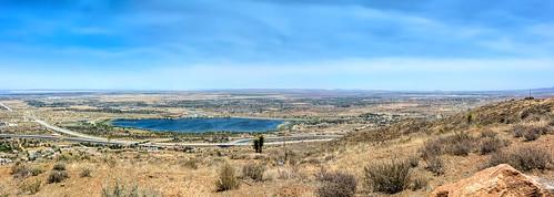 lakepalmdale antelopevalley panoramic panorma topoftheav topoftheantelopevalley mojavedesert mohavedesert california californiaaqueduct bluesky joelach