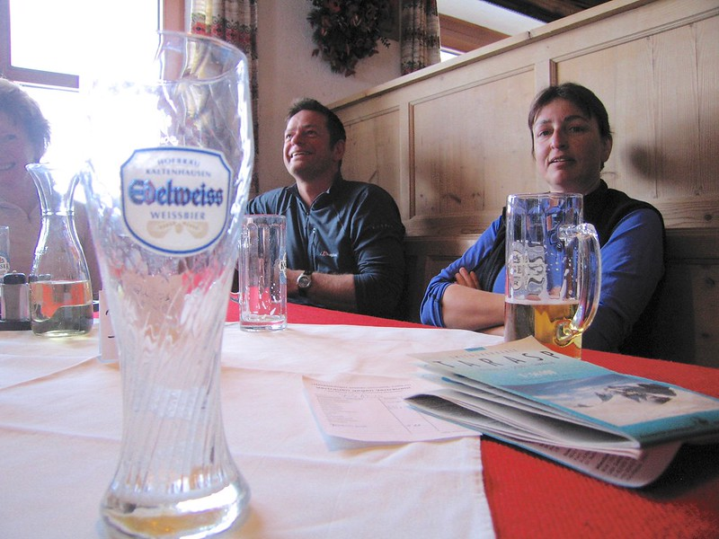 Weissbier or Helles bier? The choice is yours at the Heidelberger hutte