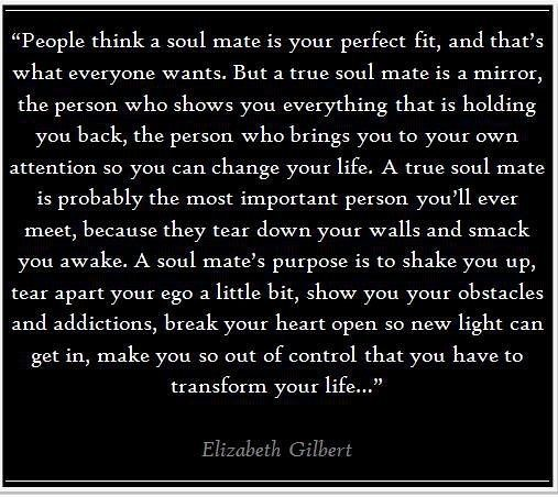 Soulmate And Love Quotes Elizabeth Gilbert On Soul Mates Flickr