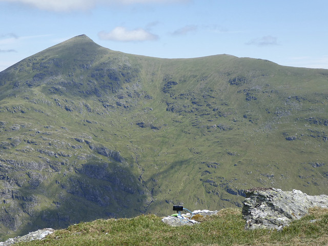 Slow Mo set up view of Stob Binnein