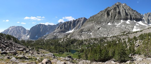 1211 Buck Peak, Temple Crag, Mt Robinson, and Two Eagle Peak with Seventh Lake in the center | by _JFR_