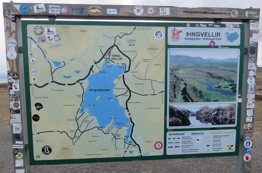 Thingvellir National Park Map Þingvellir National Park Map (Suðurland, Iceland) | Þingvell… | Flickr