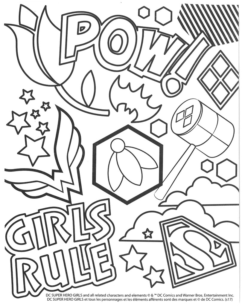 - Get Inspired For Super Hero Girls Coloring Drawing 4 Fun