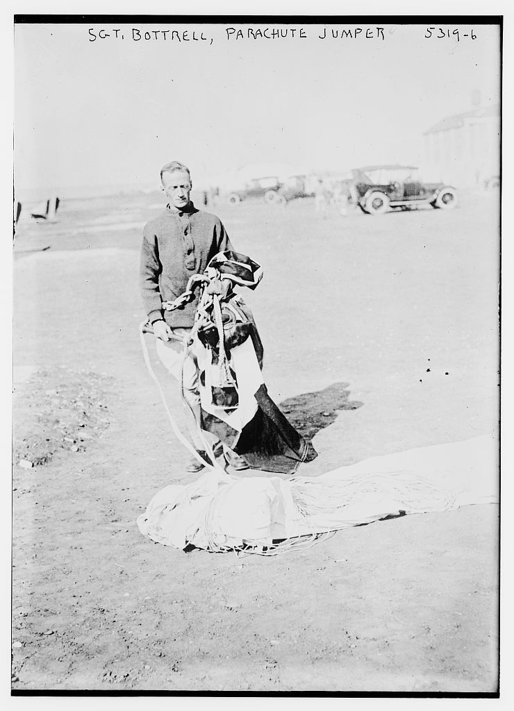Sgt. Bottrell, parachute jumper (LOC)