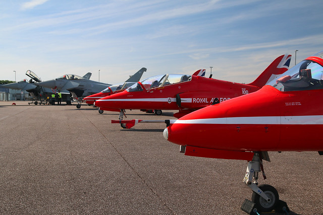 Red Arrows & Typhoons  | Bristol Airport