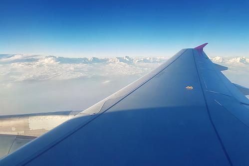 outdoors landscape sky mountains blue airplane wing travel himalayas nepal asia samsungs8 hrvojesimich gazzda
