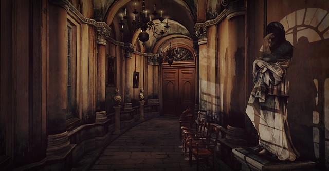 The corridor of the castle