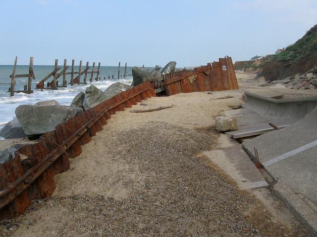 Sea defences at Happisburgh