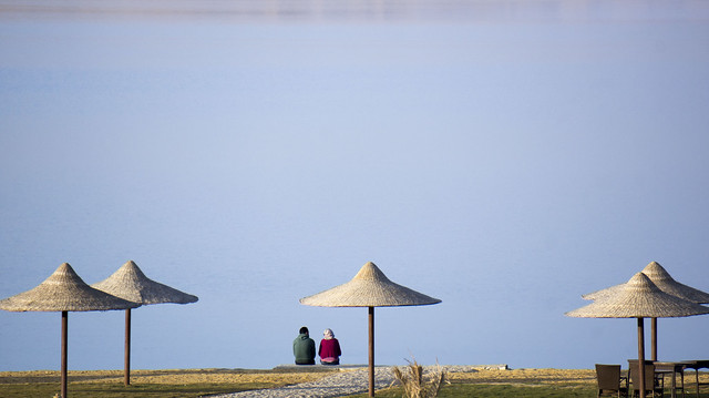 Just the two of them at Egypt's Lake Qaron in Fayoum
