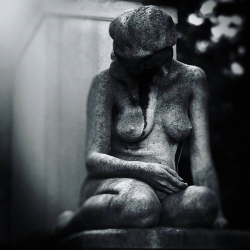 Statue #naked #statue #sadness #cemetery #blackandwhite #gray #white #black #shadow #light #sad #cry #tomb #igers #igersitalia #Milano #cimiteromonumentale #death #life #body #igersmilano #photooftheday #picoftheday #cry #sadness | by Mario De Carli