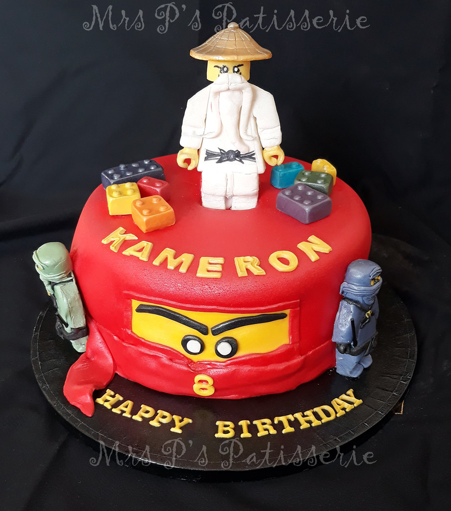 Amazing Lego Ninjago Birthday Cake Mrs Ps Patisserie Flickr Funny Birthday Cards Online Inifofree Goldxyz