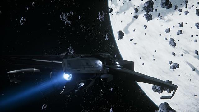 Anvil Aerospace F7C approaching moon Yela