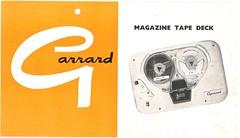 Garrard Magazine Tape Deck Leaflet
