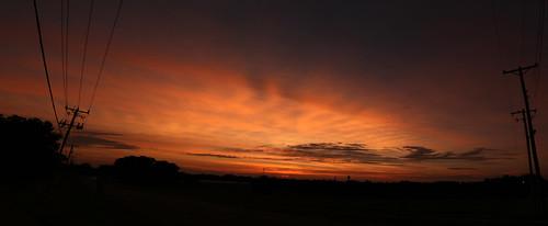 panorama sunset milton wisconsin canon 7d markii clouds