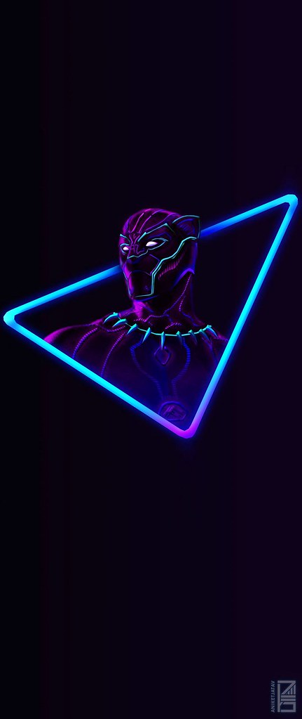 fortnite wallpaper i upscaled the neon black panther artwork for phone wallpapers 18 - fortnite phone wallpaper