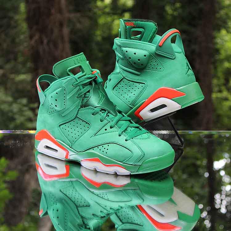 watch cc98d 61db1 Air Jordan 6 VI Gatorade Retro Green AJ5986-335 Men's Size ...