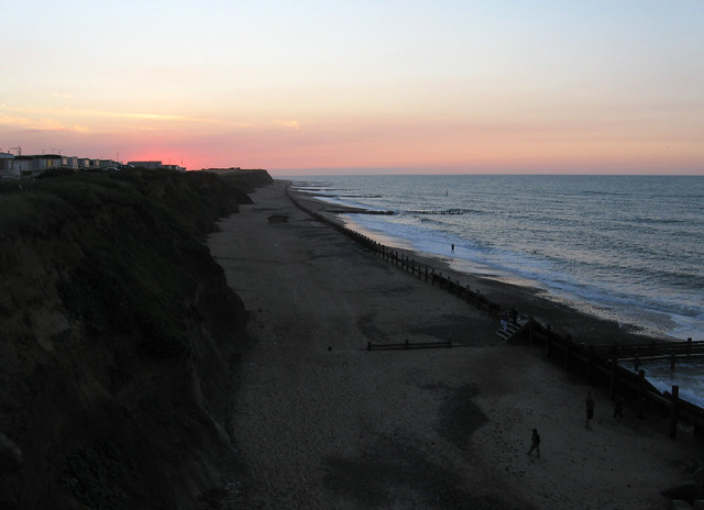 Happisburgh beach at dusk