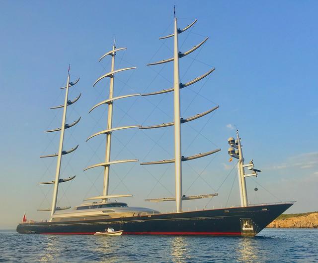 Sailing the Maltese Falcon Around Ibiza