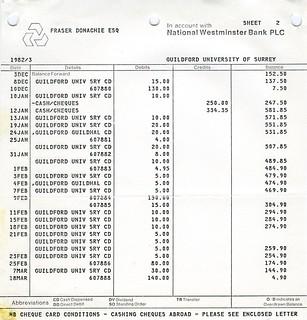 Bank Statement   Sheet 2   1983