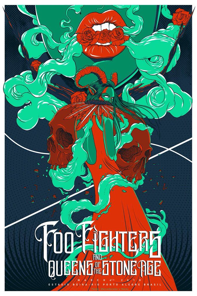 queens of the stone age poster art by jason mccord