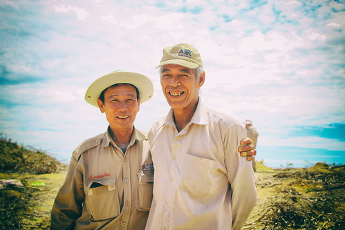 Local farmer feels relieved after our teams have safely destroyed a dangerous piece of unexploded ordnance in his family's plantation   by Project RENEW