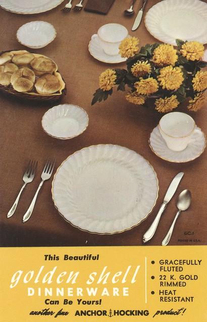 Golden Shell Dinnerware