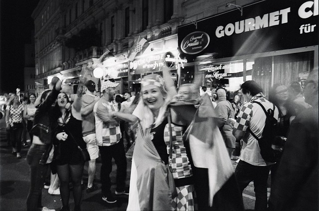 Croatians celebrating football whole night !